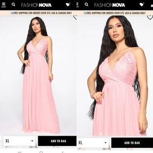 FashionNova Ancient Love story pleated maxi dress